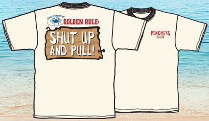 Pinchers T-Shirt (Shut Up and Pull – White)