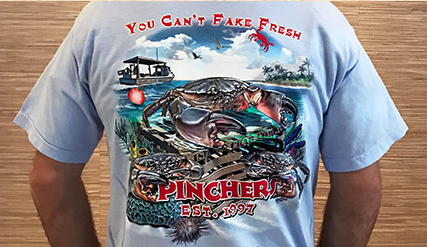 Pinchers T-Shirt (Chalky Blue Crab Island Reef)
