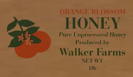 Walker Farms Orange Blossom Honey