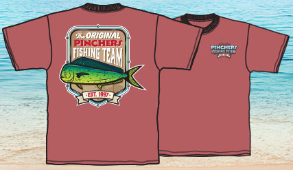 Pinchers T-Shirt (Original Fishing Team - Red)