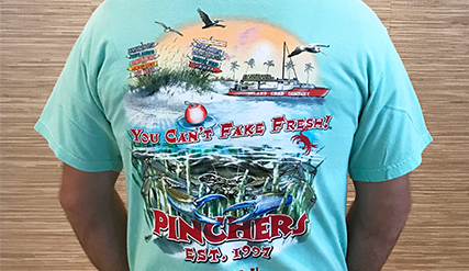 Pinchers T-Shirt (Blue Crab Island Reef)